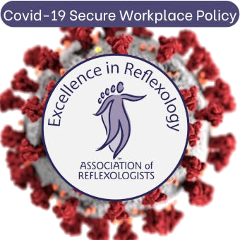 AOR logo for Reflexologists who are providing treatments in a Covid secure environment